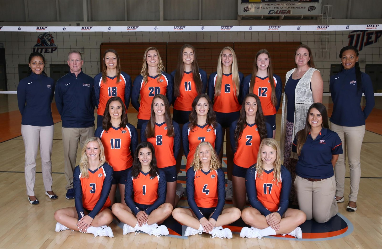 The Official Site of UTEP Athletics – Volleyball Roster Template